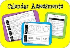 Free calendar assessment printable