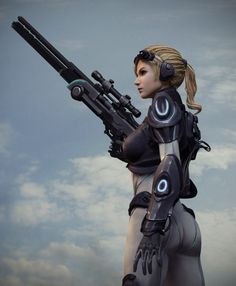 Ghost Nova Picture  (3d, sci-fi, character, soldier, girl, woman)