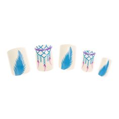 24 Pack White Dreamcatcher False Nails , all, False Nails, Inspire Me..., Festival Make Up, Nails, Make Up, Your Fave's, False Nails, What's New Fashion trends, accessories and jewellery for young women