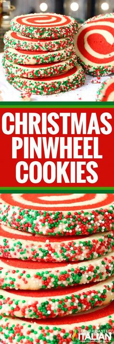 Christmas Pinwheel Sugar Cookies are fun festive and incredibly easy to make. This simple recipe will have you enjoying these tasty treats in no time. It is so easy you can use your favorite recipe or mine. Even store bought dough will work in a pinch. Christmas Deserts, Holiday Desserts, Holiday Baking, Holiday Recipes, Christmas Parties, Christmas Recipes, Easter Desserts, Christmas Time, Christmas Decor