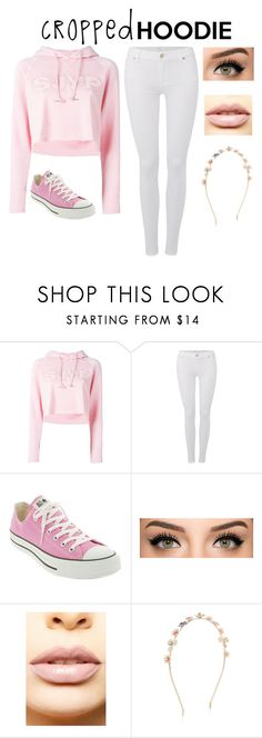 """Cropped Hoodie Contest"" by yesitsjess03 ❤ liked on Polyvore featuring Steve J & Yoni P, 7 For All Mankind, Converse, LASplash and Accessorize"