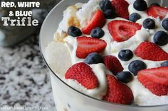 Red, White and Blue Trifle for your Memorial Day Menu