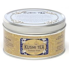 Kusmi Kashmir Tchai Metal Tin A blend of Chinese black teas with spices based on a traditional Nepalese recipe. The spices in this blend are an aid to digestion, thus making this tea the perfect drink to accompany meals. We suggest to enjoy this tea during mealtime.