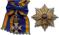 """The Order of the Netherlands Lion (De Orde van de Nederlandse Leeuw), founded by King William I of the Netherlands on 29 September 1815. Since 1980 the Order has been primarily used to recognise merit in the arts, science, sport and literature, or """"Those with merits of a very exceptional nature for society"""". Motto: VIRTUS NOBILITAT"""