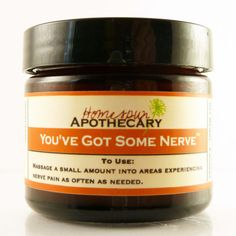 Soothe nerve pain naturally with handmade Youve Got Some Nerve balm. Made from healing oils, herbs essential oils. Benefits back, sciatic neuropathy pain. Sciatic Pain, Sciatic Nerve, Nerve Pain, Sciatica, Healing Oils, Natural Healing, Pinched Nerve Relief, Pain Relief, Spine Health