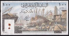 100 Dinars From Algeria 1 1 64 Algeria Travel, Ligne Claire, Graphic Art, Nature Photography, Vintage World Maps, The 100, Coins, History, Illustration