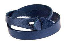 Man Leather Bracelet,Women Leather Bracelet,Fashion Handmade Leather Bangle Blue #Handmade #Cuff