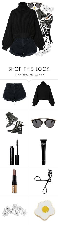"""""""🌑BlackOut🌑"""" by raynebowmaster on Polyvore featuring Nobody Denim, Diesel, Christian Dior, Bobbi Brown Cosmetics, WALL and Georgia Perry"""
