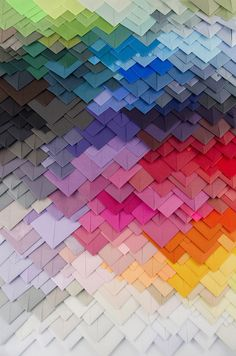 French artist Maud Vantours plays with paper, colors and collages by realizing paper works in 3D.