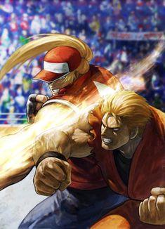 Terry Bogard (Fatal Fury) vs Ryo Sakazaki (Art of Fighting)