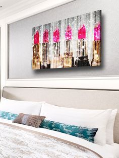 Lipstick Collection Canvas Art
