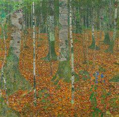 Густав Климт Березовая роща 1903, 110×110 см.
