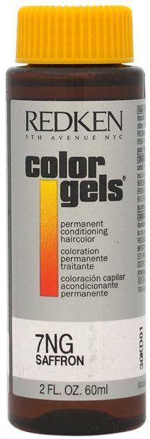 redken - color gels permanent conditioning haircolor 7ng - saffron (2 oz.)