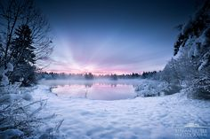 """Winter has arrived. At - 17 ° C it was really tough work to capture this incredibly beautiful atmosphere.  From """"Tribute to my Home""""  www.stefan-hefele.de"""