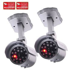 VideoSecu 2 Pack Dummy Security Cameras Bullet Fake IR Infrared LEDs Flashing Light Home Surveillance with Free Warning Decals 1RH at http://suliaszone.com/videosecu-2-pack-dummy-security-cameras-bullet-fake-ir-infrared-leds-flashing-light-home-surveillance-with-free-warning-decals-1rh/