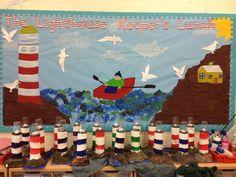 My Lighthouse Keeper's Lunch Display Class Displays, School Displays, Classroom Displays, Classroom Themes, Literacy Display, Seaside Theme, Sea Theme, Creative Teaching, Teaching Art