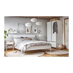 ROSTVIN Duvet cover and pillowcase(s), white, gray - white/gray - Full/Queen (Double/Queen) - IKEA