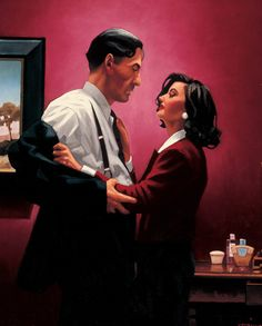 Jack Vettriano Welcome to my World Oil on canvas 32 x 28 inches Signed, Painted in 1998