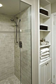best small bathroom storage ideas for . We've already done the work for you when it comes to finding and curating small bathroom storage ideas. Bathroom Renos, Master Bathroom, Bathroom Shelves, Bathroom Closet, Paint Bathroom, Bathroom Small, Bathroom Remodeling, Master Shower, Downstairs Bathroom
