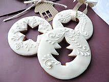 Dekorácie - Ozdoba na zavesenie - Christmas Biscuits, Christmas Sugar Cookies, Christmas Sweets, Christmas Cooking, Christmas Gingerbread, Noel Christmas, Holiday Cookies, Christmas Ornament, Gingerbread Decorations