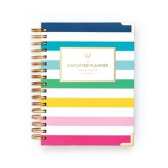 2017 Academic Daily Simplified Planner // Happy Stripe
