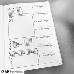 Lovely fresh weekly from Esther  @freckledex #bulletjournalcollection
