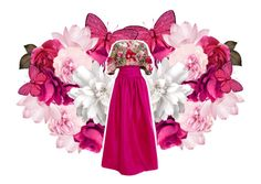 """Flower Pink."" by maryamwrites ❤ liked on Polyvore featuring Marchesa"