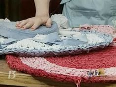 CraftSanity on TV: Crocheting Rag Rugs From Recycled Cotton Bed Linens