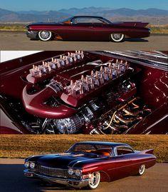 #Kindig-it Design Smokin' Hot 1960 #Cadillac #De #Ville Riddled With Copper Bullets Lamborghini Aventador Roadster, Toyota Prius, Custom Muscle Cars, Custom Cars, Bmw I8, Cadillac Eldorado, New Sports Cars, Chevrolet Trucks, Sport Cars