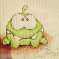 Sweet work from our Instagram fan benamiiin! #cuttherope #time #travel #omnom #cute #green #little #monster #love #yummy #candy #sweets #playing #play #mobile #game #games #phone #fun #game #happy #funny #face #eyes #smile #nice http://cuttherope.net
