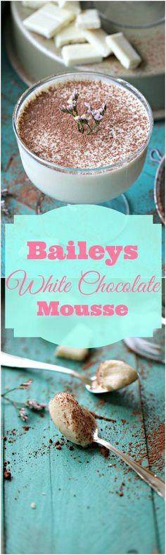 Easy White Chocolate Mousse with a hint of Cherry Baileys - Peas and Peonies