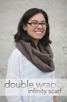 Double Wrap Infinity Scarf Crochet Pattern  |  Free Infinity Scarf Crochet Pattern by Little Monkeys Crochet