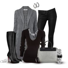 Cable-Knit Sweater #winter #fall #winter look #sweater #jacket #coat #boots