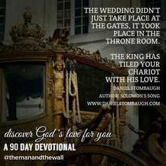 Today's scope, if you will let it, will change your perspective on life and death as you travel the kingdom! Check out the video on you tube or catch the replay in its entirety on periscope TODAY!!! www.danielstombaugh.com #wedding #solomonssong #loved #devotion #love #intimacy #inspiration #God #goodreads #desired #danielstombaugh #themanandthewall #diamondlife