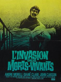 """The French poster for """"The Plague of the Zombies"""" (1966)"""