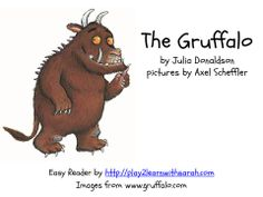 The Gruffalo Easy Reader by www.play2learnwithsarah Virtual Book Club for Kids   Julia Donaldsons The Gruffalo