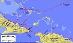 1492-1493- Columbus' eerste expeditie naar Amerika-