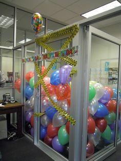Balloon Office surprise.  #officefun #funwork #balloons