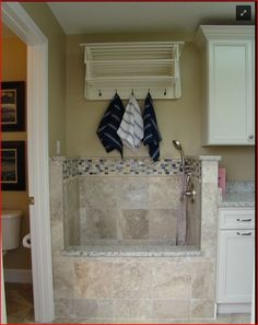 """Dog Bath area in laundry room....an absolute MUST in our """"forever"""" home!!!"""