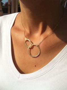 Gold circle necklace - Eternity gold necklace - 14k Goldfilled necklace - Simple gold jewelry - Infinity gold necklace. $27.00, via Etsy.