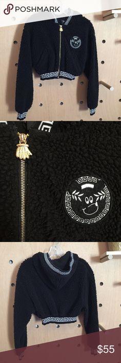 Lazy oaf jacket Amazing cropped Sherpa jacket!!! Super rare and crazy comfy. Lazy Oaf Jackets & Coats