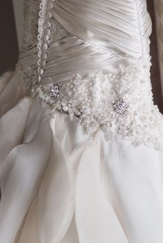 Stunning draping feature Bridal Couture, Designer Couture Wedding Gowns, Designer Couture Wedding Dresses, Armadale, Melbourne Custom design bridal lace dress by http://vincenzopintaudicouture.com