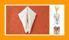 Servietten falten Osterdeko Hase Osterhase Osterfest Origami, Napkins, Blog, Easter Bunny, Easter Activities, Towels, Origami Paper