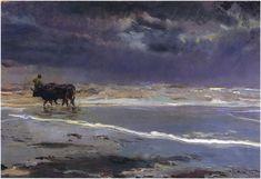 """Joaquín Sorolla    """"Gray day on Valencia beach"""", 1901"""