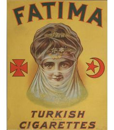 Fatima Turkish Cigarettes Board Advertising Sign