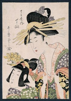 (Japan) by Kitagawa Utamaro. woodblock print. ukiyo-e.