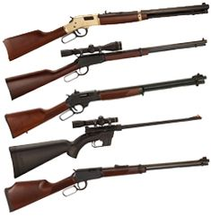 Henry rifles. Love our Golden Boy!