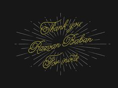 Dribbble - Thank you by Nick Vlow