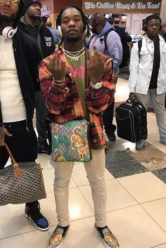 ASAP Rocky wearing  Gucci Bengal Slip On Sneaker, Gucci Bengal Supreme Messenger