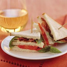 28 Ways with Fresh Tomatoes - Mini Bacon, Tomato, and Basil Sandwiches Recipe - Southern Living